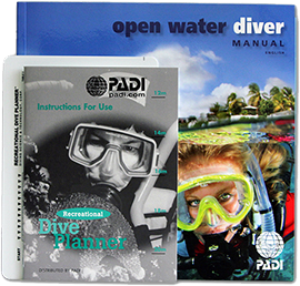 PADI Open Water Diver Manual with RDP